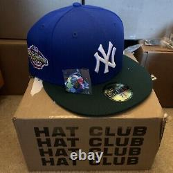 Hat Club Exclusive 7 3/8 Jae Tips Yankee Green Blue Two Tone Pink UV Brim Bottom