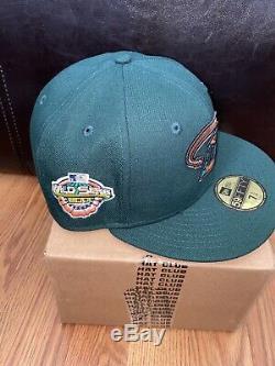 Hat Club Exclusive Arizona Diamondback 2001 WS Green Egg Pink Bottom Size 7 1/4
