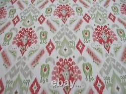 Jane Churchill Curtain Fabric'NURI PINK/GREEN' 7.4 METRES (740cm) Linen Blend