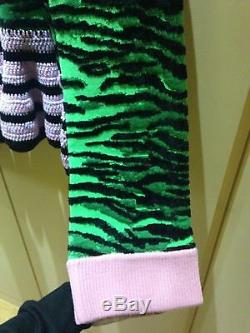 KENZO x H&M Sweater Green Black Pink Tiger Print New with Tags