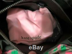 Kate Spade Morley Large EW Tote Bag in Green & Pink Taupe Nylon & Leather $299
