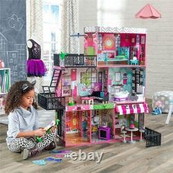 KidKraft Brooklyn's Loft Dollhouse in Pink and Green