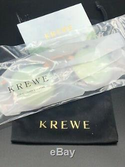 Krewe St Louis Clear Pink Frame Green Lenses New Display Bag Fast Free S/H
