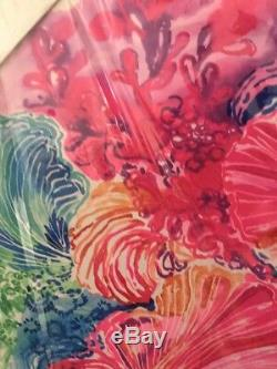 LIlly Pulitzer NEW Large Canvas Art Pink Green Blue Shell Design Free Shipping