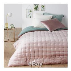 La Redoute Interieurs Damya Reversible Quilted Velvet Comforter Pink/Green