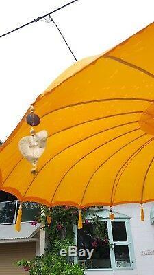 Large 3 mtr wide Bali Umbrellas White, Red, Fuchsia Pink, Yellow, Purple, Dk Grn