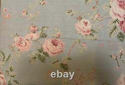 Laura Ashley 4-Piece King Sheet Set 100% Cotton Blue Pink Green NIP