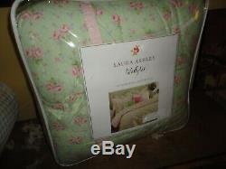 Laura Ashley Madeline Green Pink Floral (4pc) California King Comforter Set