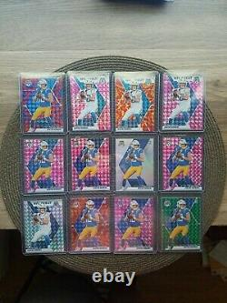 Lot (12x) Justin Herbert Silver Prizm, Pink Mosaic Orange-blue-green, Etc. Read