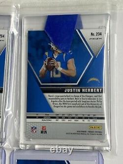 Lot Of 4 2020 Mosaic Justin Herbert Pink & Green PRIZM & 2 Base Cards Rookie