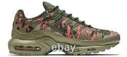 Men's Nike Air Max Plus C Digi Camo Neutral Olive Green Pink Size 11 AJ4858-200