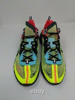 Men's Nike React Element 87 Volt Aurora Green Racer Pink AQ1090-700 Size 14