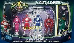 Mighty Morphin Power Ranger Set Red Pink Blue Green 4 Ranger New Lord Zedd 2010