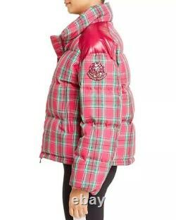 Moncler Chou logo down coat pink and green size 1 nwt cross out on tag
