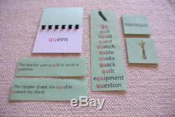 Montessori Pink Blue Green Language Series