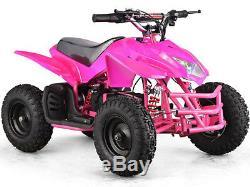 MotoTec 24v Mini ATV Quad Titan v5 Green, Blue, Pink or White MT-ATV5