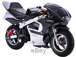 MotoTec GBmoto 40cc 4 Stroke Gas Pocket Bike Black, Blue, Green or Pink