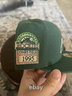 Myfitteds Magic Treehouse Colorado Rockies 7 1/4 Pink UV 1995 Coors Field Green
