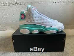 NEWAir Jordan 13 Retro GS White Soar/Aurora Green Pink 439358-100 Size 5.5Y