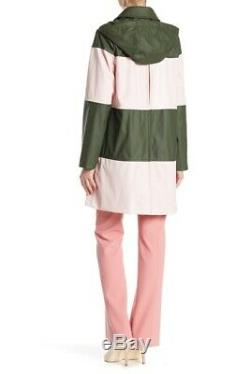 NEW Kate Spade New York Color Block Coat in Pink/Green Size XL #C760