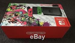 NEW Nintendo Switch Splatoon 2 Edition Neon Green/Neon Pink Joy-Cons version 3.0