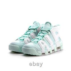 NIKE AIR MORE UPTEMPO Mint Barely Pink Green WOMEN'S SZ US 8 UK 5.5 EUR 39 NEW