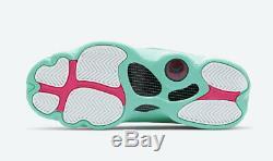 NIKE Air Jordan Retro 13 XIII White Soar Green Pink 439358-100 Women GS Sz 1C-7Y