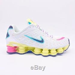 NIKE Shox TL Pastel White Green Pink Running Shoes AR3566-102 Womens Size 8