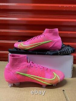 NIKE iD BY YOU MERCURIAL SUPERFLY 8 ELITE PINK/Green DD0317 661 US 7M/ 8.5W