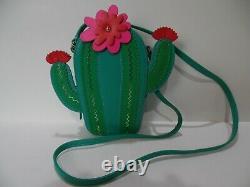NWOT Kate Spade Green & Pink Blooming CACTUS Crossbody Shoulder Handbag Purse