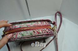 NWT $225 Brahmin Leah Julep Pink Green Ombre Melbourne Crossbody