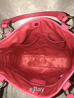 NWT Authentic Coach Poppy Bonnie Cashin Plaid Tote Shoulder Bag 22482 Pink Green