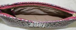 NWT Brahmin Kayla Julep (Pink-Green) Melbourne Leather Wristlet/Clutch