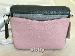 NWT COACH 89088 Cassie Crossbody 19 In Colorblock Green/Pink