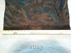 NWT Green Bay Packer PINK Victorias Secret Black Satin Bomber Jacket Large