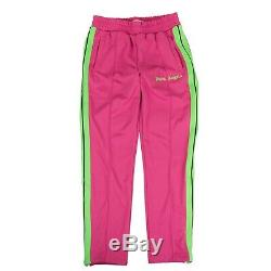 NWT PALM ANGELS Fuchsia Pink And Green Bold Track Pants Size XL $485
