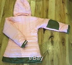NWT Patagonia Girls Large Puff Rider Winter Ski Jacket Pink Green 12