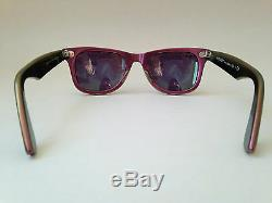 New Authentic Ray-Ban Wayfarer Sunglasses Pink Cosmo Jupiter Green Flash RB2140