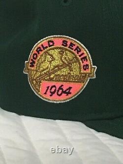 New Era Green Eggs & Ham STL Cardinals 1964 WS Pink UV Hat Club Exclusive 7 1/4