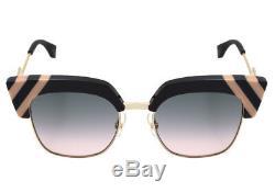 New Fendi Sunglasses Ff 0241/s Kb7jp 50 Gray / Green Pink