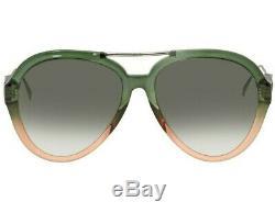 New Fendi Tropical Shine Sunglasses Ff 0322/g/s Iwb9k 58 Green Peach Pink