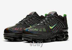 New Nike Air Vapormax 360 CK2718-003 Black Pink Blast Green Strike Men's Size 12