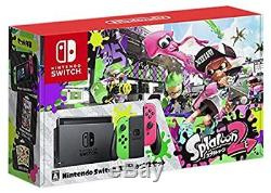 New Nintendo Switch Splatoon 2 limited edition console Neon Green Neon Pink F/S