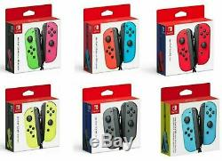 New Official Nintendo Switch JoyCon Joy-Con L & R Blue Red Pink Green Neon