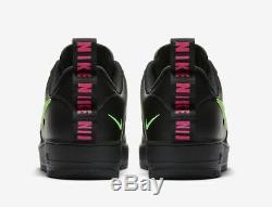 Nike Air Force 1 Lv8 Ul Utility Black / Hyper Pink / Scream Green Uk 10, 11
