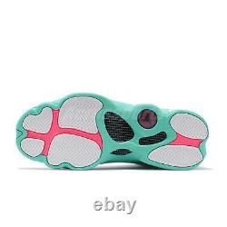 Nike Air Jordan 13 Retro GS Aurora Green White Pink XIII Women Girl 439358-100