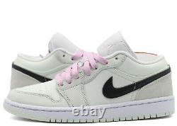Nike Air Jordan 1 Low SE W Barely Green CZ0776-300 Black Light Artic Pink Green