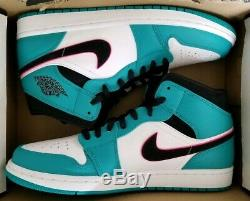 Nike Air Jordan 1 MID Se South Beach Mens Sz 11 Miami Vice Green/pink 852542 306