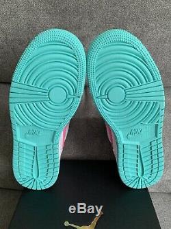 Nike Air Jordan 1 Mid Digital Pink Green White Size 7Y WithReceipt 555112-102