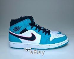 Nike Air Jordan 1 Mid SE Riverwalk South Beach Turbo Green Black Pink 852542 306